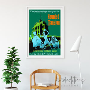 Haunted Mansion, Disneyland Poster Art Print - VIVIDEDITIONS