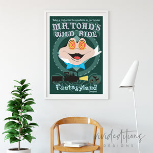Mr. Toad, Disneyland Poster Art Print - VIVIDEDITIONS