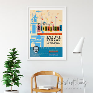 Happiest Place on Earth, Disneyland Poster Art Print - VIVIDEDITIONS