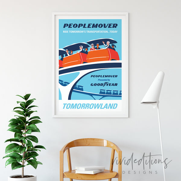 Peoplemover, Disneyland Poster Art Print - VIVIDEDITIONS