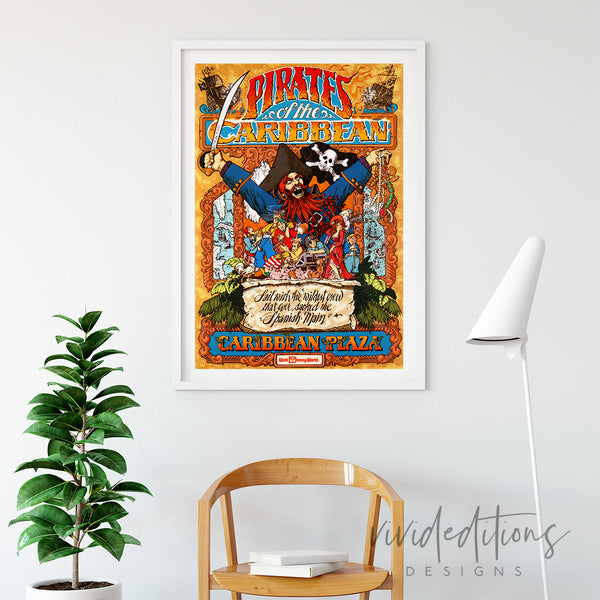 Pirates of the Caribbean WDW Art Print - VIVIDEDITIONS
