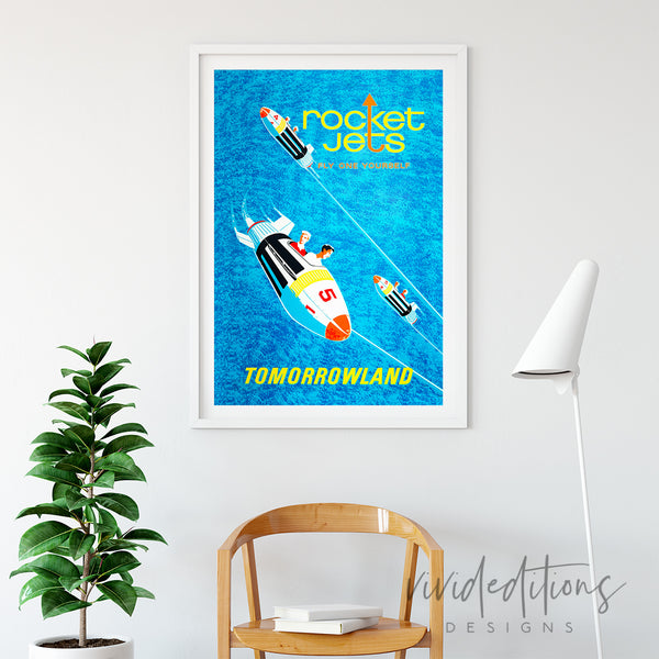 Disneyland Poster Rocket Jets Tomorrowland