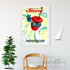 Skyway, Disneyland Poster Art Print - VIVIDEDITIONS