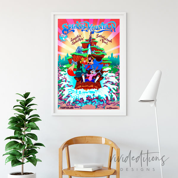 Splash Mountain WDW Art Print - VIVIDEDITIONS