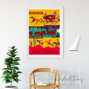 Stage Coach, Disneyland Poster Art Print - VIVIDEDITIONS