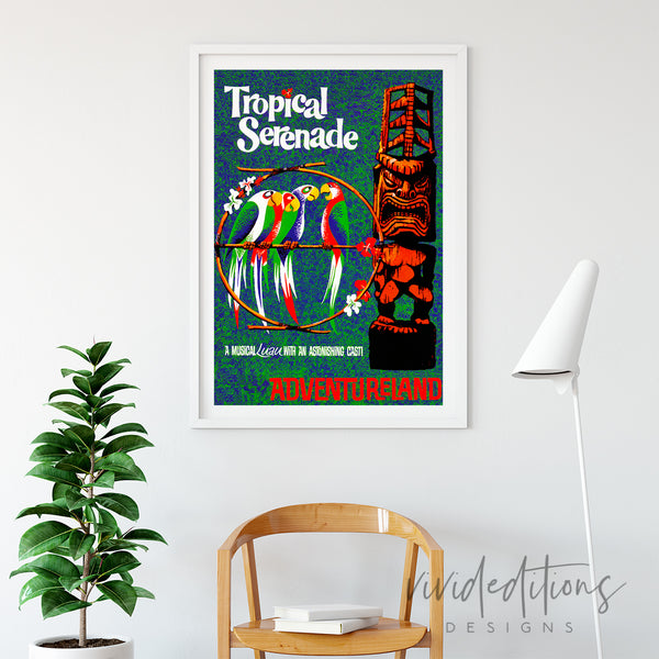 Tropical Serenade, Disneyland Poster Art Print - VIVIDEDITIONS