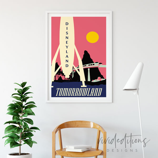 Rocket, Disneyland Poster Art Print - VIVIDEDITIONS