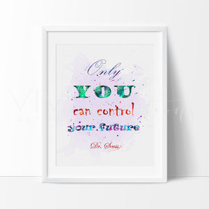 Dr. Seuss Quote 3 Watercolor Art Print Art Print - VIVIDEDITIONS