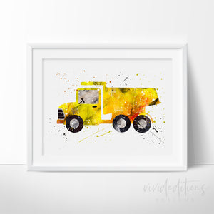 Construction Dump Truck Art Print Art Print - VIVIDEDITIONS