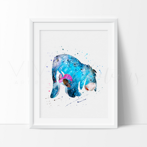 Eeyore 2, Winnie the Pooh Watercolor Art Print Art Print - VIVIDEDITIONS