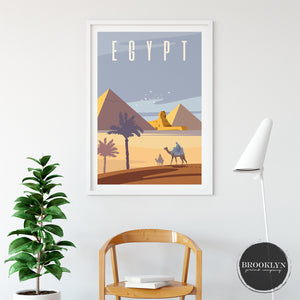 Egypt Landscape Art Travel Poster Art Print - VIVIDEDITIONS