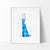 Princess Elsa 2, Frozen Watercolor Art Print Art Print - VIVIDEDITIONS