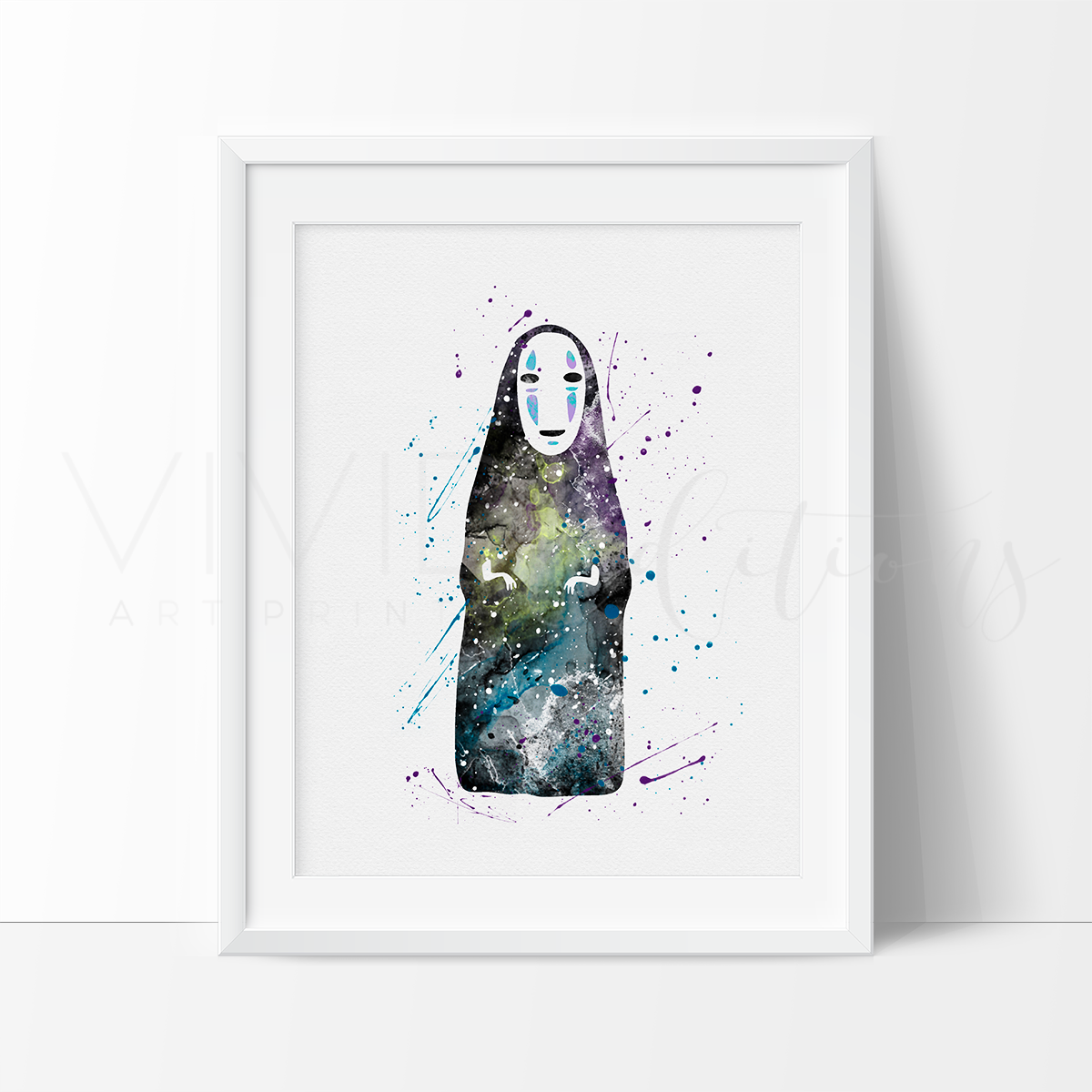 Faceless God Kaonasi Watercolor Art Print Art Print - VIVIDEDITIONS