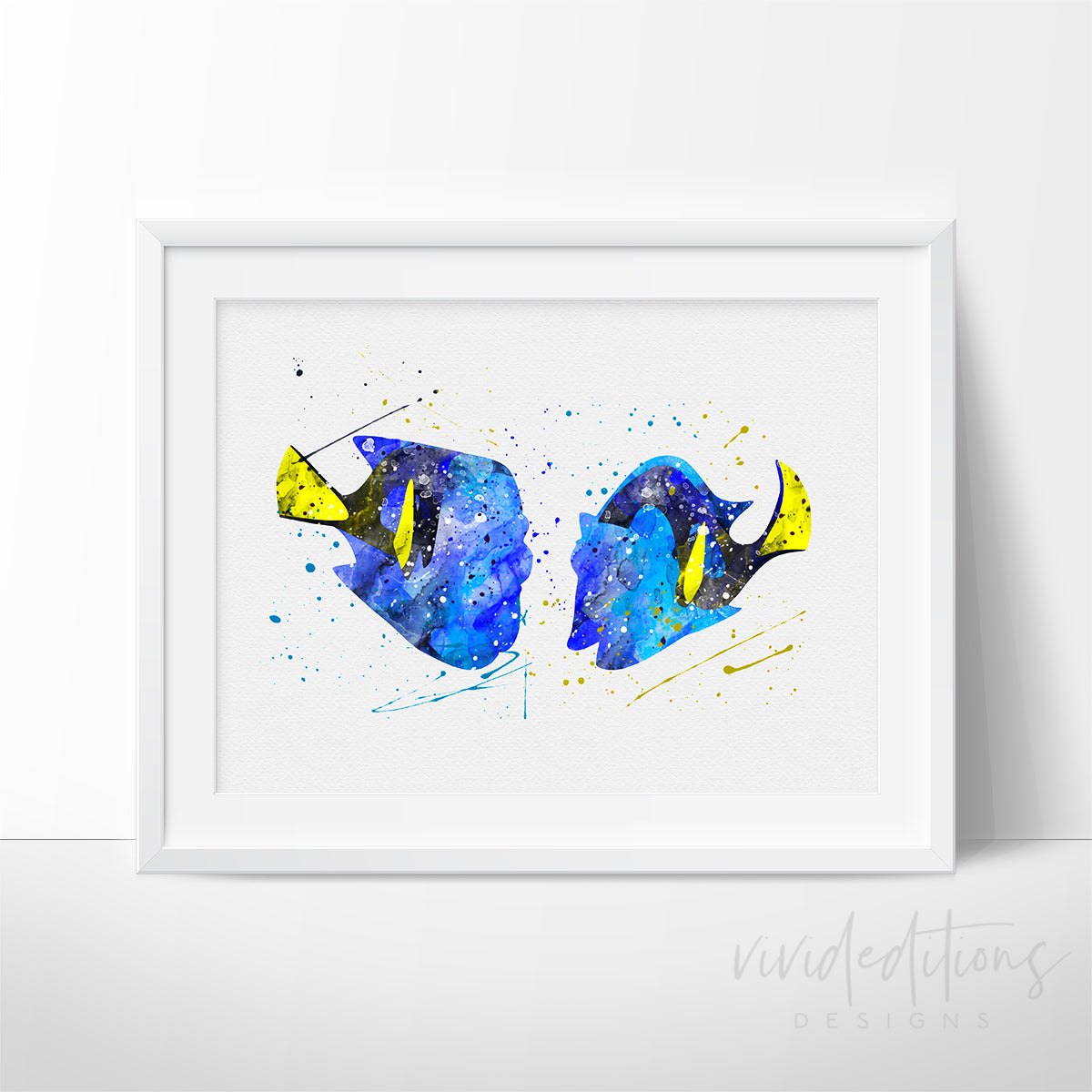 Finding Dory Watercolor Art Print Art Print - VIVIDEDITIONS