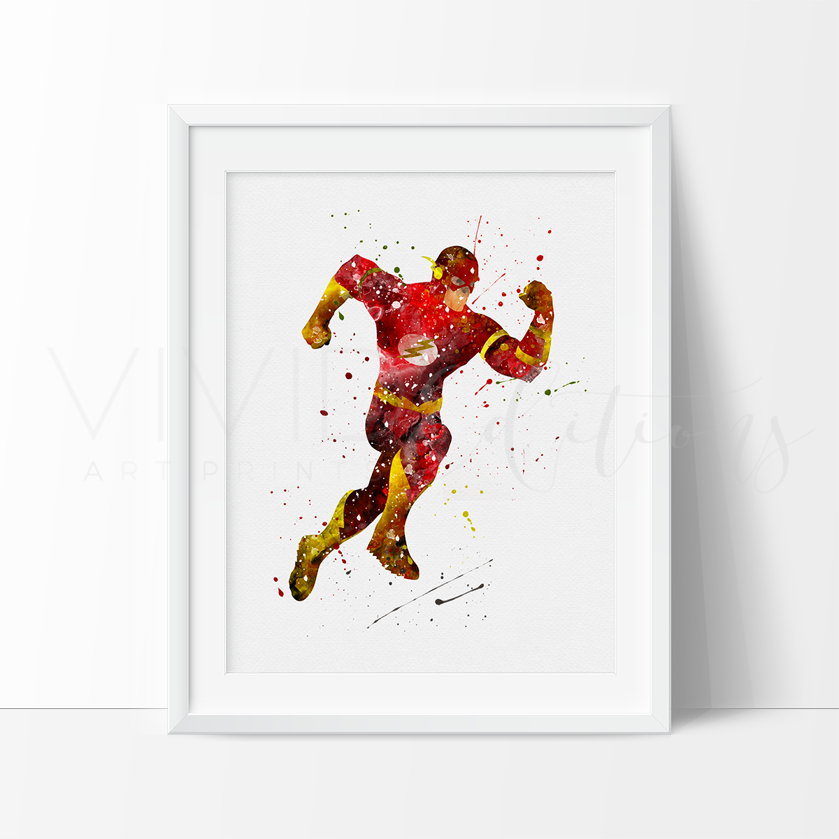 Flash Watercolor Art Print Art Print - VIVIDEDITIONS