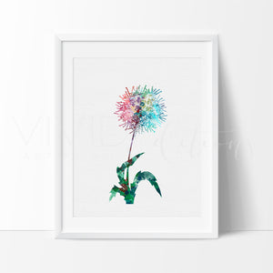 Dandelion Flower Watercolor Art Print Art Print - VIVIDEDITIONS