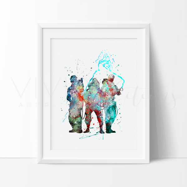 Ghost Busters Watercolor Art Print Art Print - VIVIDEDITIONS