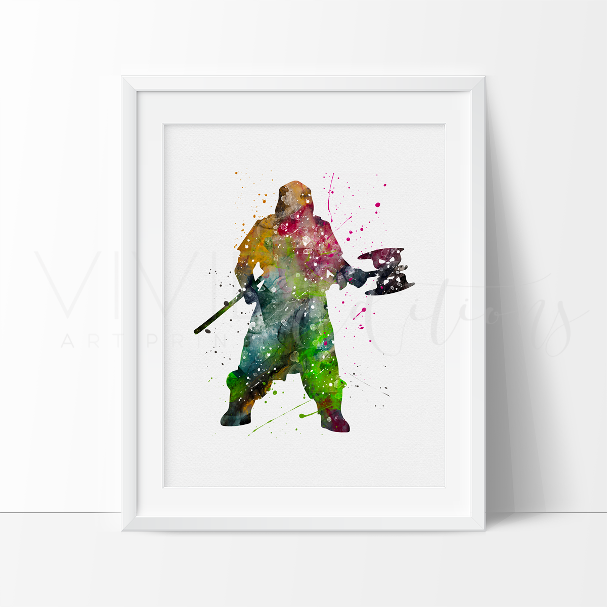 Gimli, Lord of the Rings Watercolor Art Print Art Print - VIVIDEDITIONS