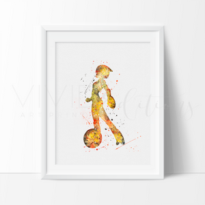 GoGo Tomago Watercolor Art Print Art Print - VIVIDEDITIONS
