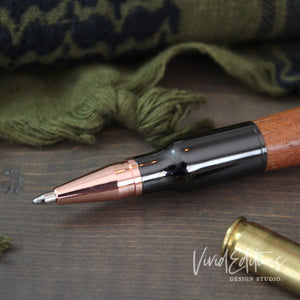 Personalized Engraved .30 Cal Bolt Action Pen Art Print - VIVIDEDITIONS