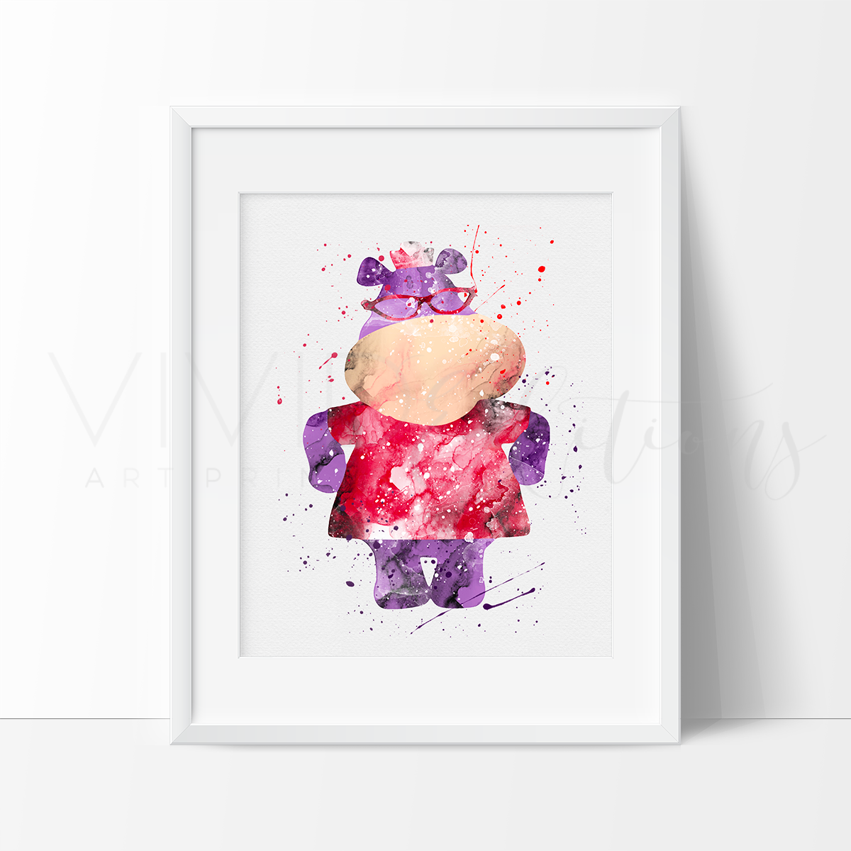 Hallie, Doc McStuffins Watercolor Art Print Art Print - VIVIDEDITIONS