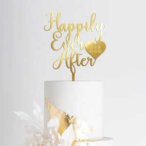 Happily Ever After Wedding Cake Topper Art Print - VIVIDEDITIONS