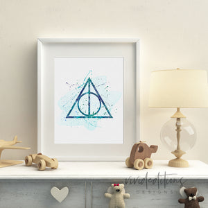 Harry Potter Deathly Hallows Wall Art Decor