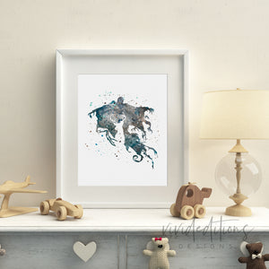 Dementor, Harry Potter Watercolor Art Print Art Print - VIVIDEDITIONS