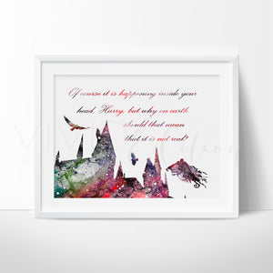 Hogwarts Quote 2, Harry Potter Art Print - VIVIDEDITIONS