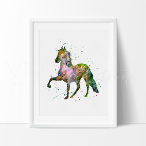 Horse Animal Art Print Wall Decor Nursery