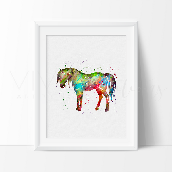 Horse 3 Art Print - VIVIDEDITIONS