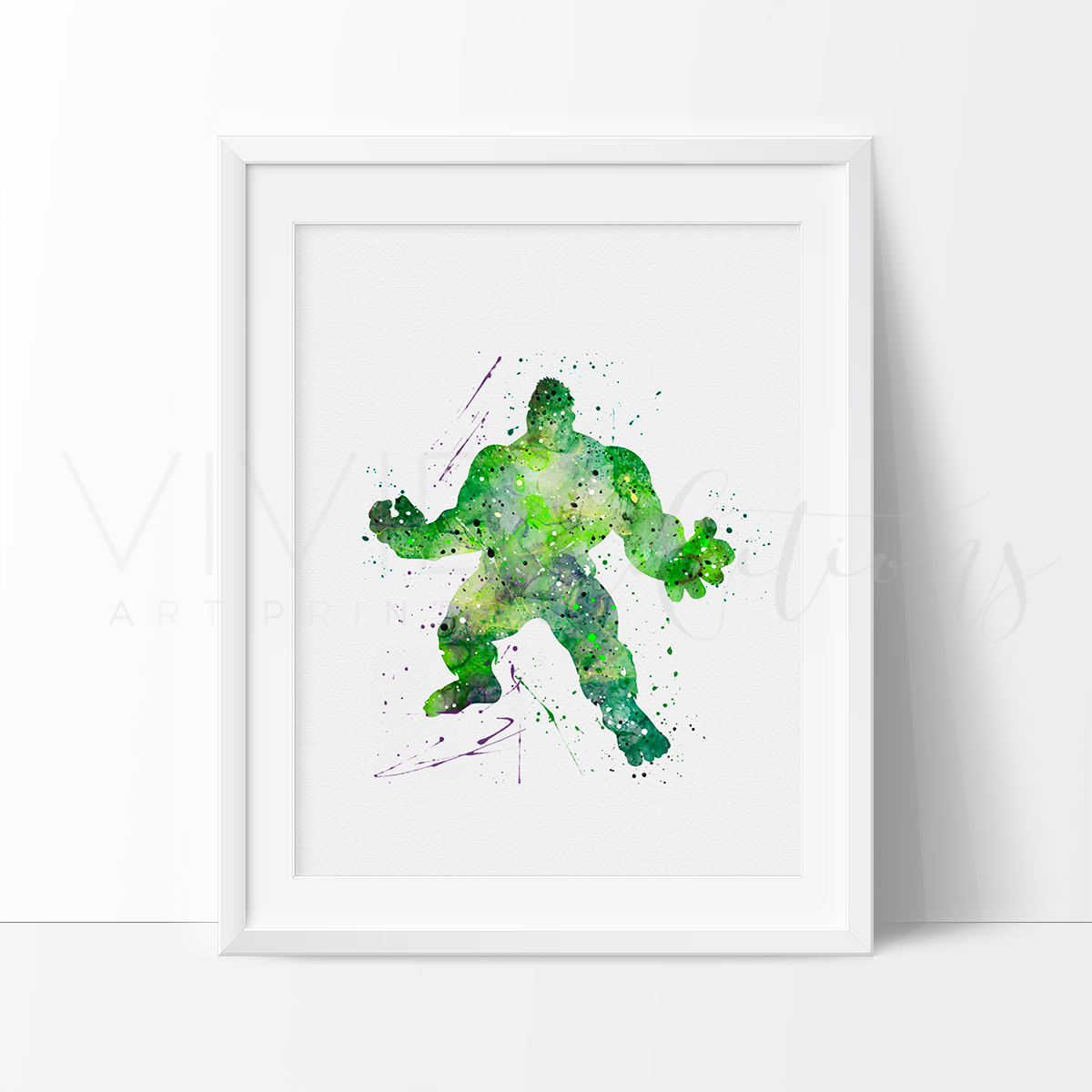 The Incredible Hulk Watercolor Art Print Art Print - VIVIDEDITIONS