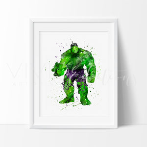 Hulk Boys Superhero Nursery Art Print
