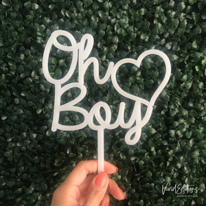 Oh Boy Baby Shower Cake Topper