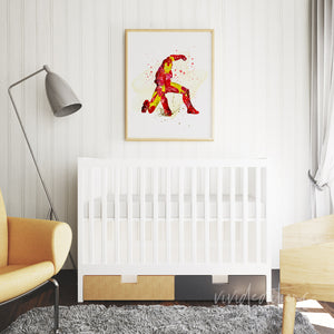 Iron Man Superhero Kids Room Wall Art Decor