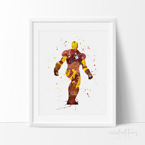 Iron Man Superhero Nursery Art Print Poster
