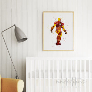Ironman Boy Nursery Art Print Decor
