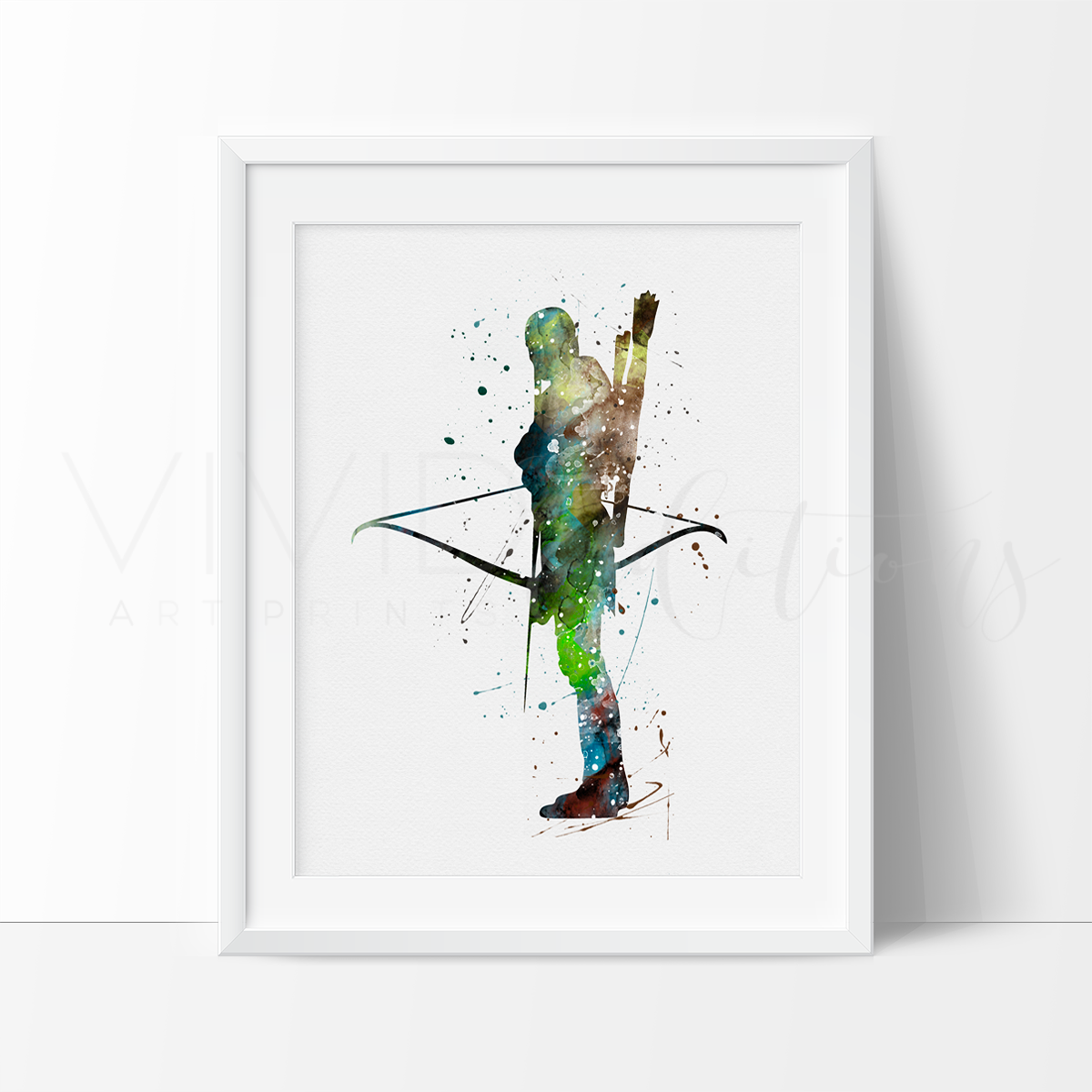 Legolas, Lord of the Rings Watercolor Art Print Art Print - VIVIDEDITIONS
