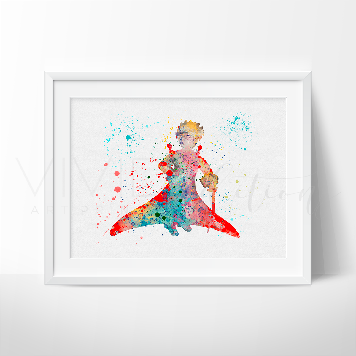 Little Prince 3 Watercolor Art Print Art Print - VIVIDEDITIONS