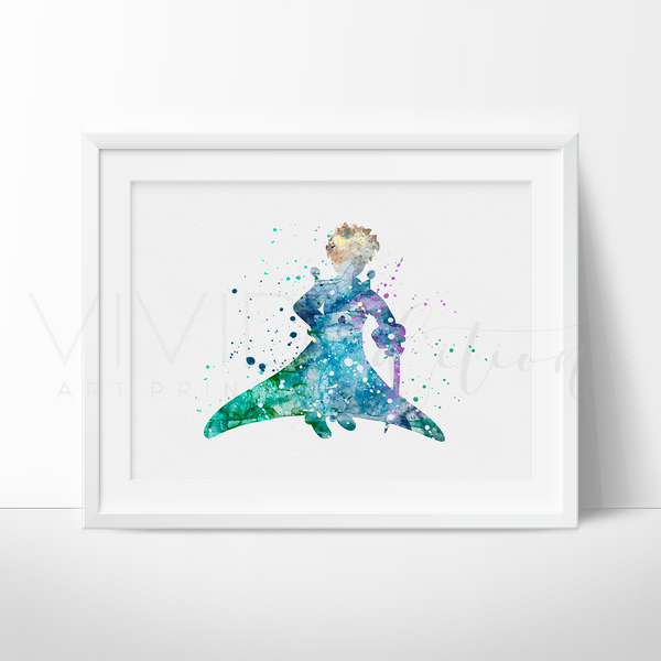 Little Prince 4 Watercolor Art Print Art Print - VIVIDEDITIONS