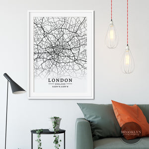 London City Map Travel Poster Art Print - VIVIDEDITIONS