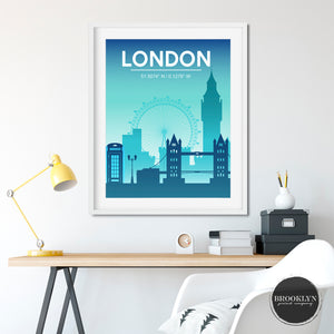 London City Skyline Art Travel Poster