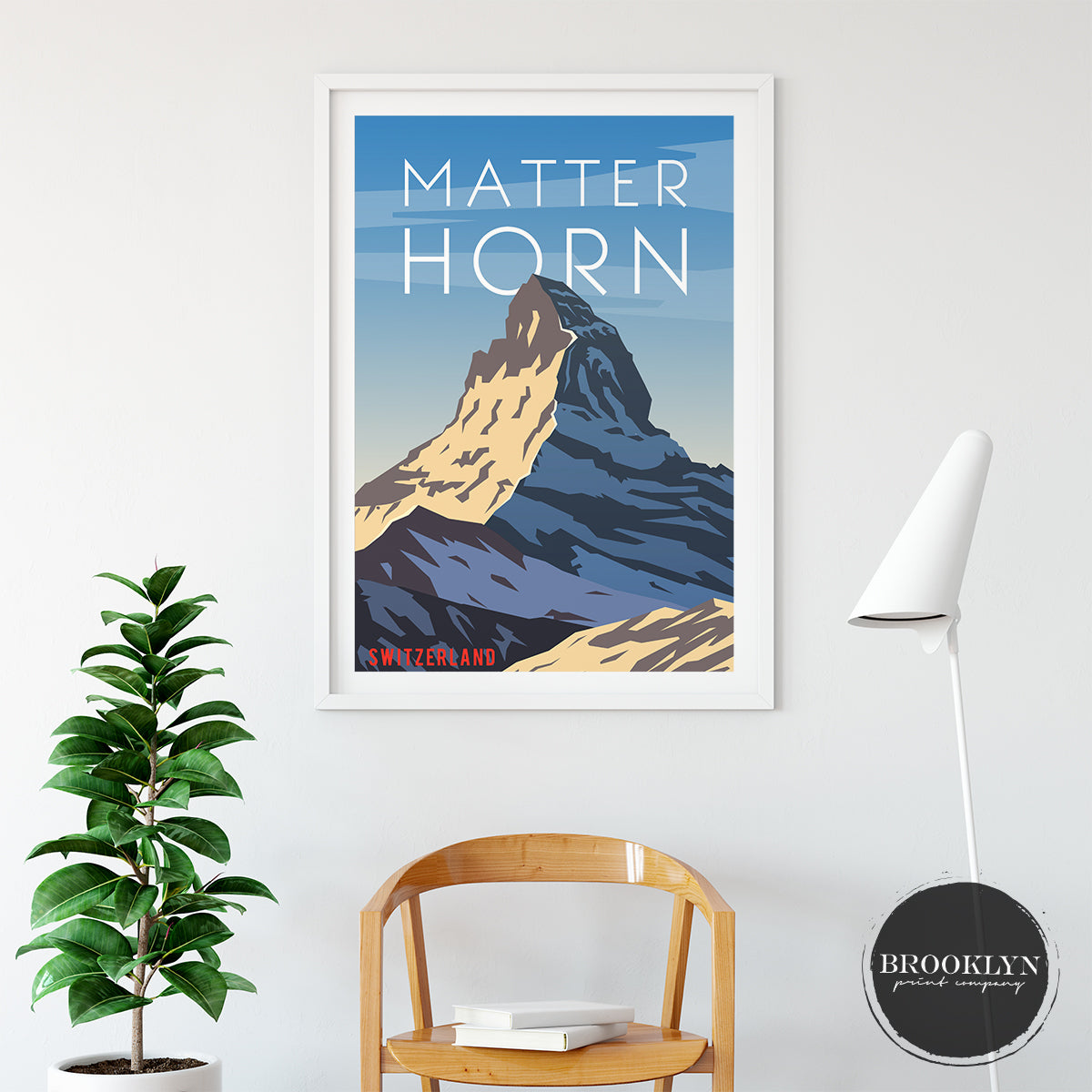 Matterhorn Landscape Art Travel Poster Art Print - VIVIDEDITIONS