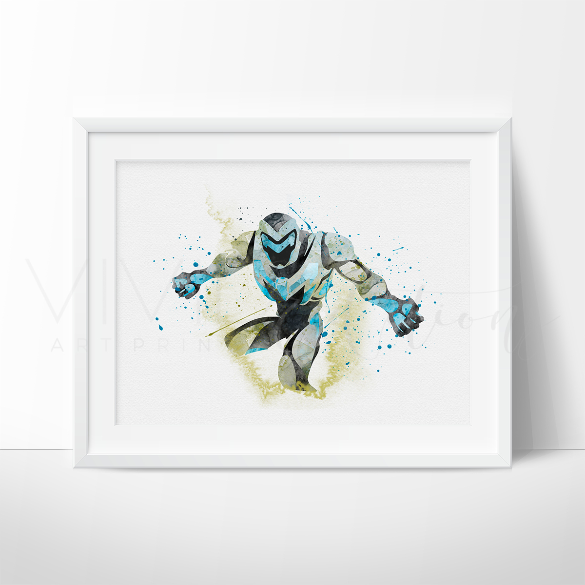 Max Steel Watercolor Art Print Art Print - VIVIDEDITIONS