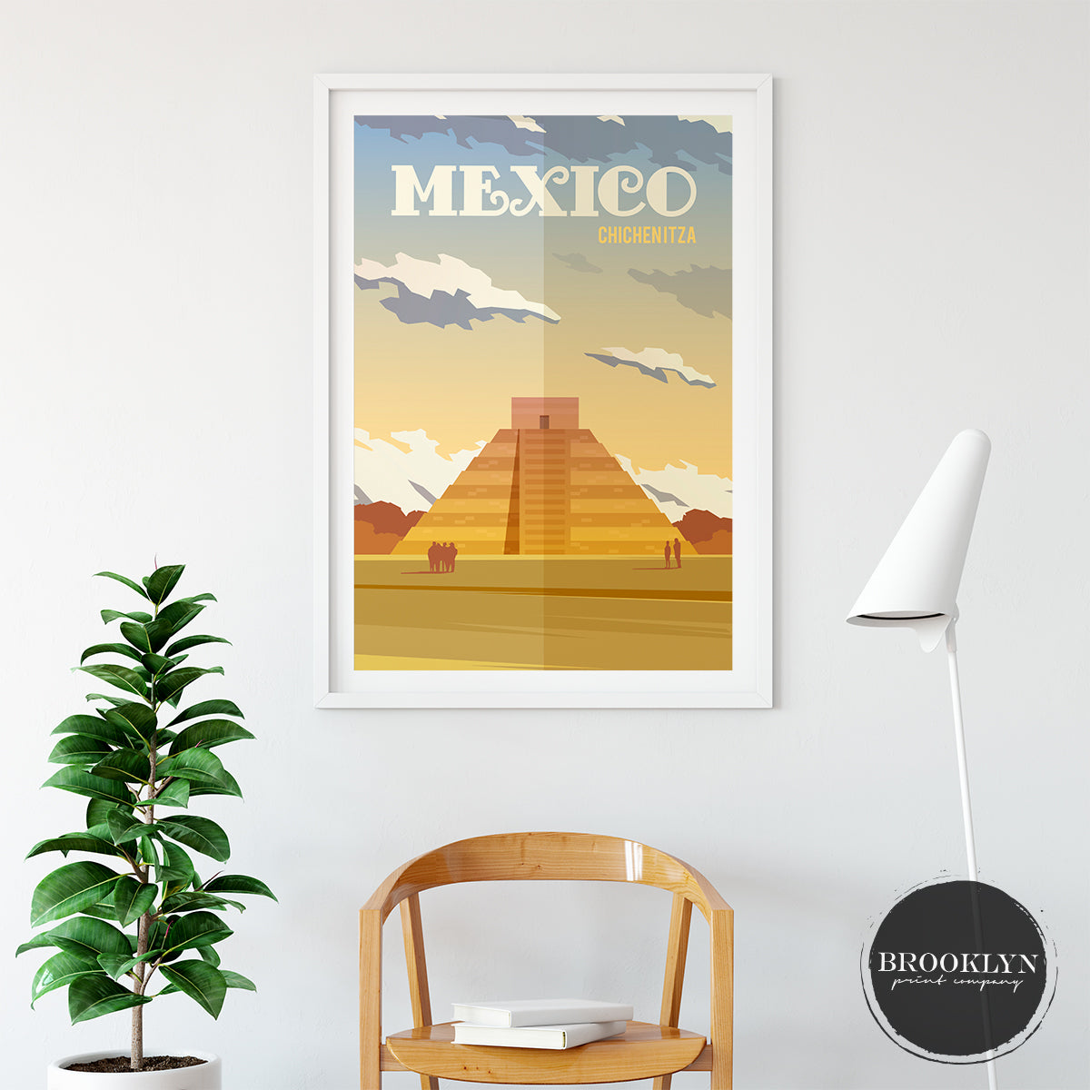 Mexico Landscape Art Travel Poster Art Print - VIVIDEDITIONS