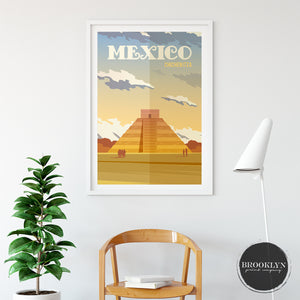Mexico Landscape Art Travel Poster