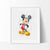 Mickey Mouse 2 Watercolor Art Print Art Print - VIVIDEDITIONS