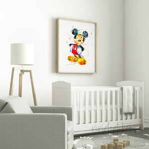Mickey Mouse Nursery Art Print