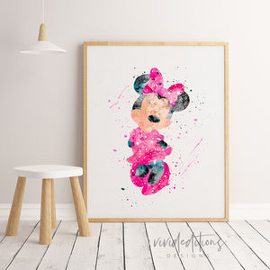 Minnie Mouse Wall Art Nursery / Playroom Decor