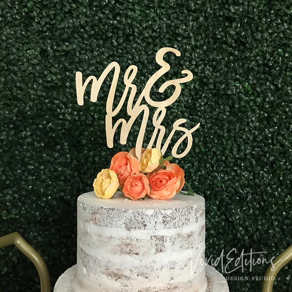 Mr and Mrs Wedding Cake Topper